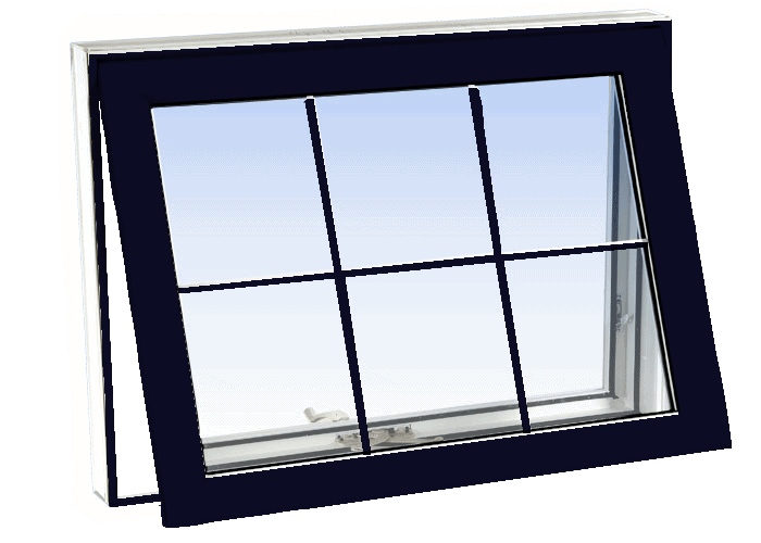 awning windows black