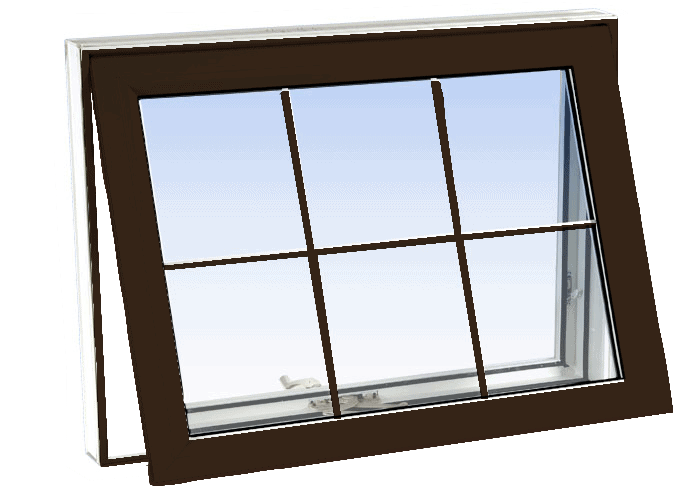 awning windows commercial brown