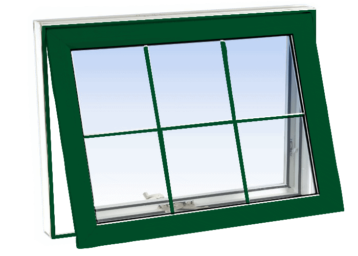 awning windows forest green