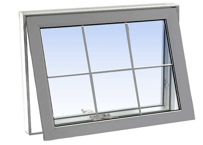 awning windows grey