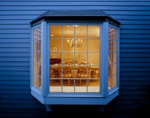 Bay Window of Dinning Room seen from outside
