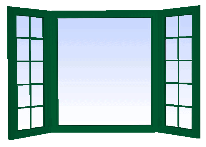 bay windows forest green