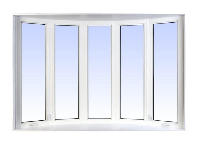 bow windows white
