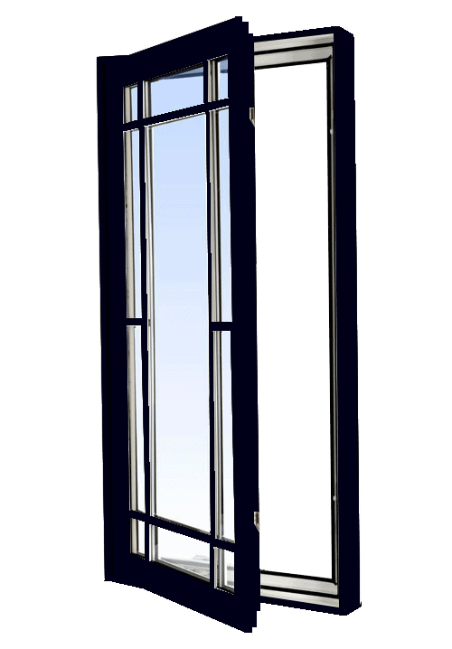 casement windows black