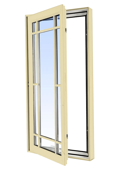 casement windows cream