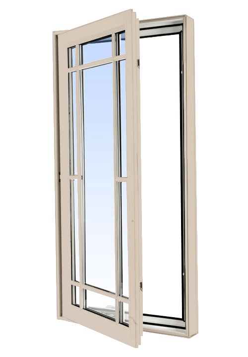 casement windows sandalwood