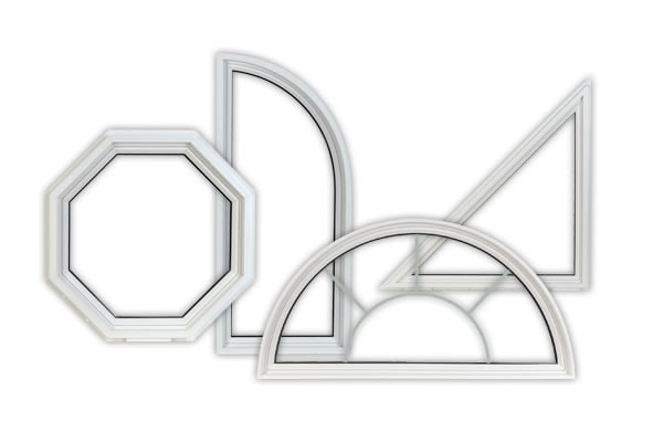 custom shape windows white