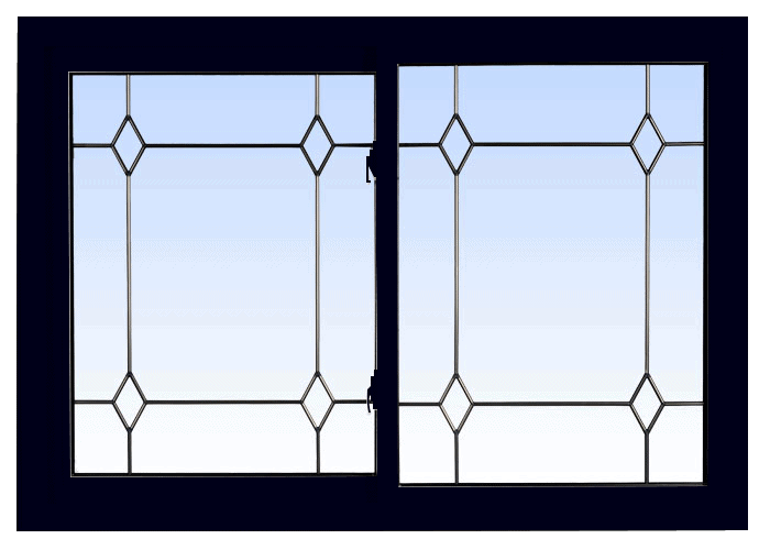 double lift out slider windows black