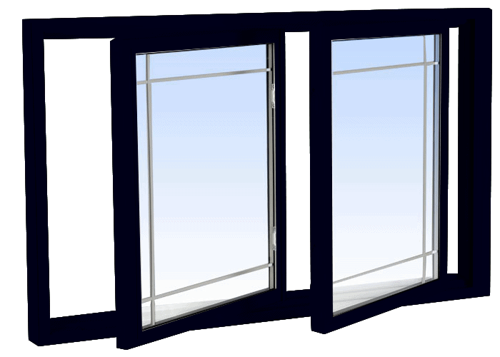 double tilt slider windows black