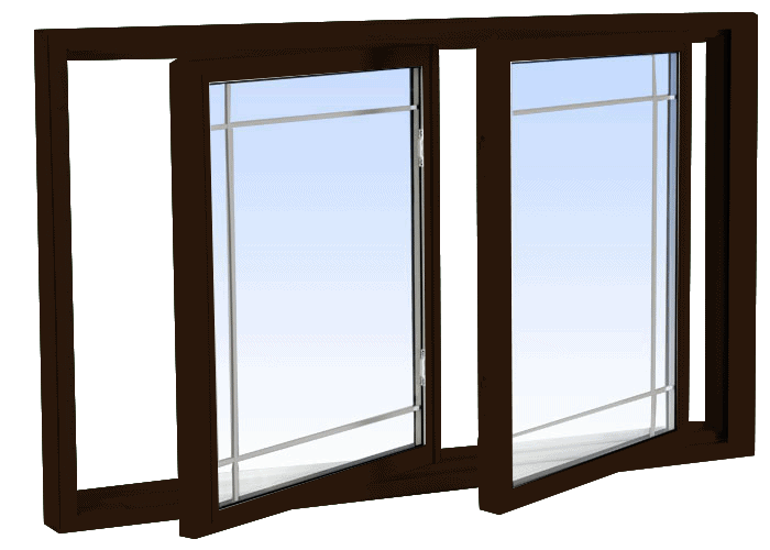 double tilt slider windows commercial brown