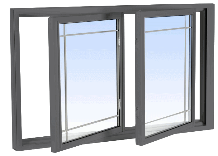 double tilt slider windows grey