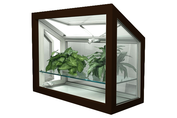 greenhouse windows commercial brown