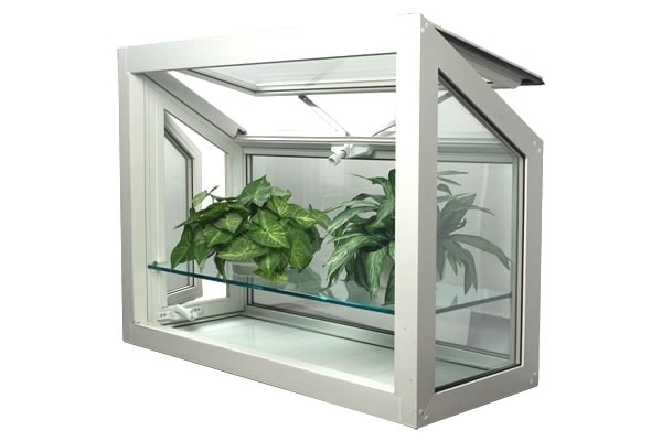 greenhouse windows white