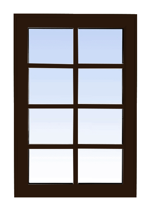 high profile fixed windows commercial brown