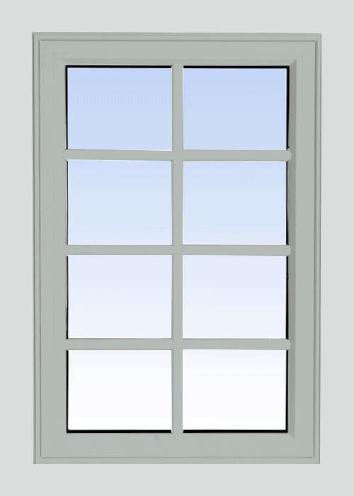 high profile fixed windows dover grey