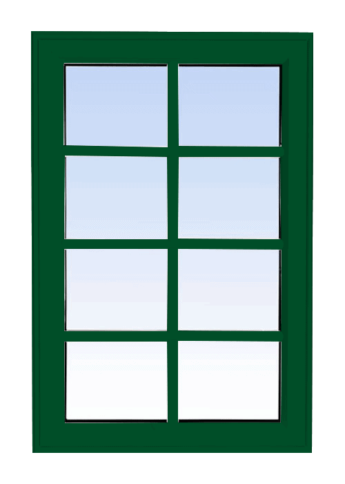 high profile fixed windows forest green