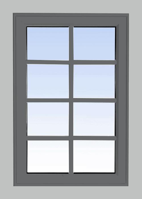 high profile fixed windows grey