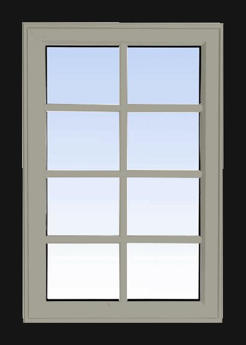 high profile fixed windows hickory