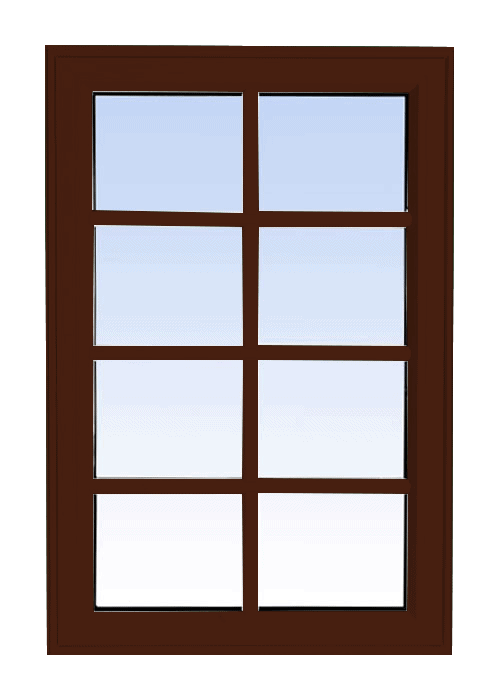 high profile fixed windows high gloss brown