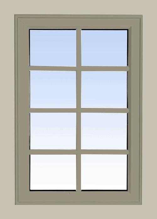 high profile fixed windows pebble