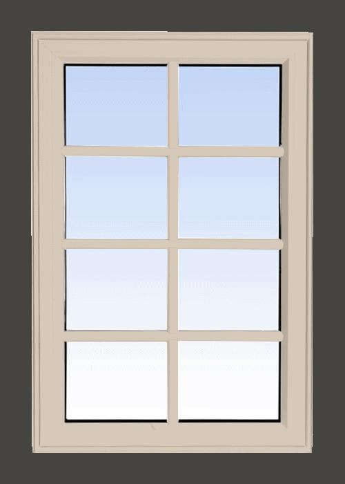 high profile fixed windows sandalwood