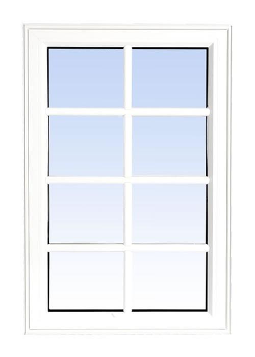 high profile fixed windows white