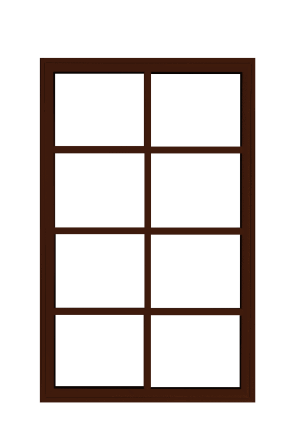 low profile fixed windows commercial brown