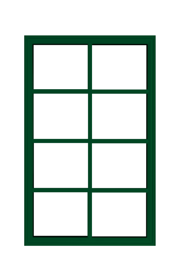 low profile fixed windows forest green