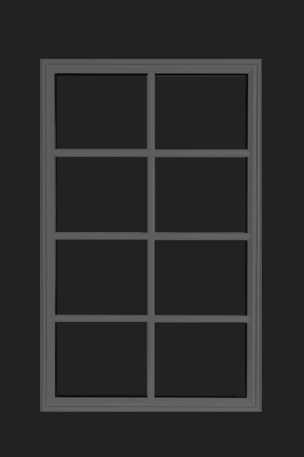 low profile fixed windows grey