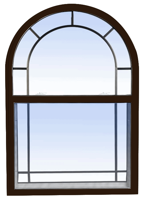 single hung windows commercial brown