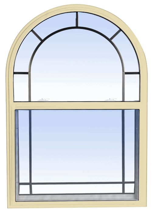 single hung windows cream