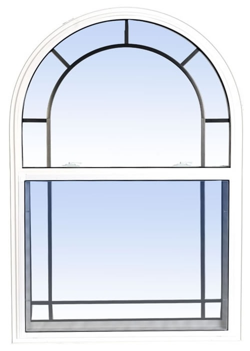 single hung windows white