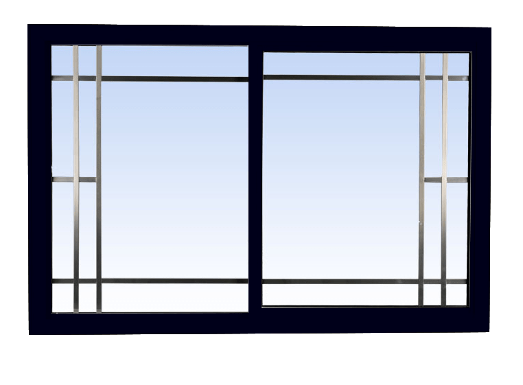 single slider lift out windows black