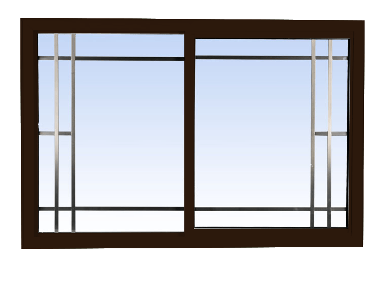 single slider lift out windows commercial brown