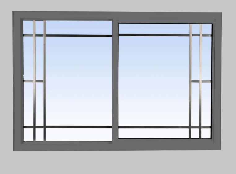 single slider lift out windows grey
