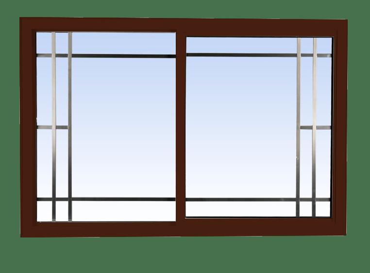 single slider lift out windows high gloss brown