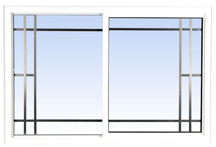 single slider lift out windows white