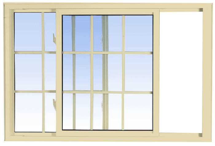 single tilt slider windows cream