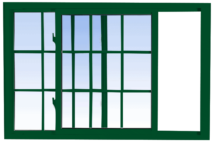 single tilt slider windows forest green