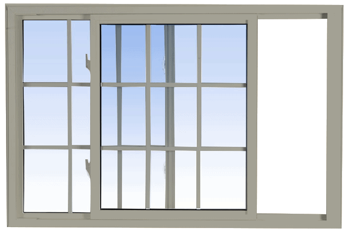 single tilt slider windows hickory