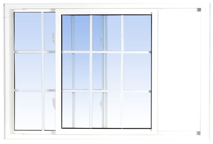single tilt slider windows white