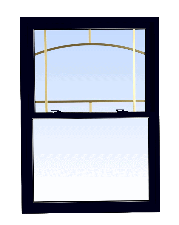 double hung windows black