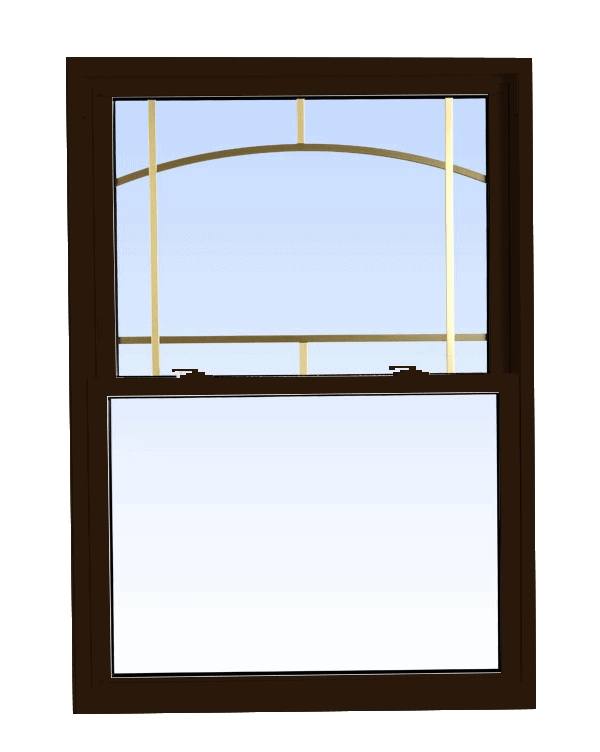 double hung windows commercial brown