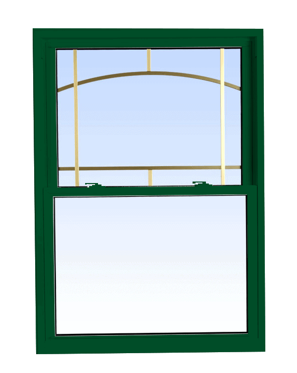 double hung windows forest green