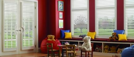 playroom window shutters
